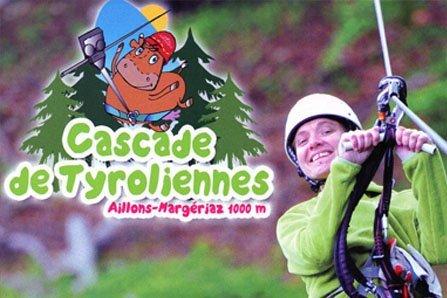 Cascade tyroliennes aux aillons Margériaz