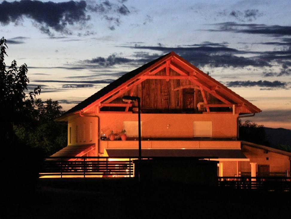 le camping marlice de nuit à trévignin